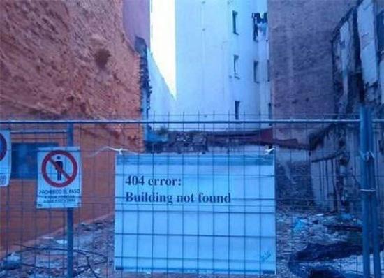 404 error building not found