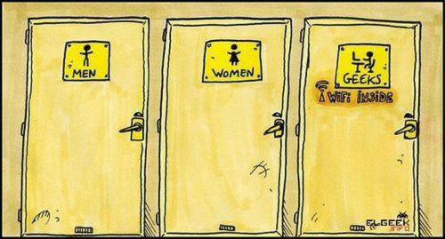 a geek's toilet