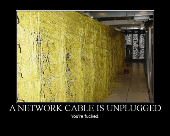 a network cable is unplugged