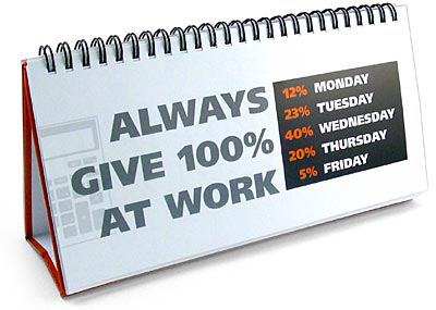 always give 100 percent at work!