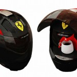 Amazing Ferrari helmet!