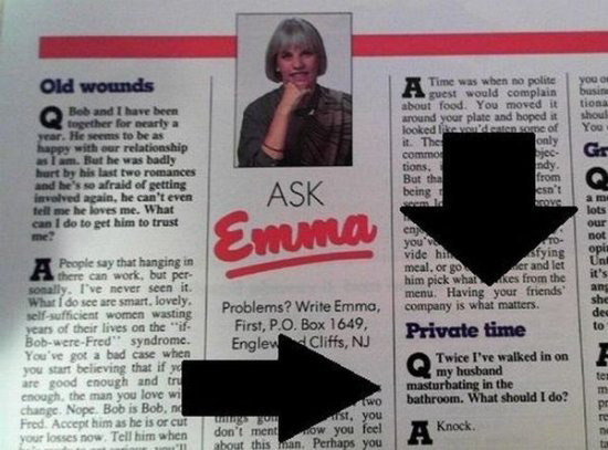 private time? Ask Emma!