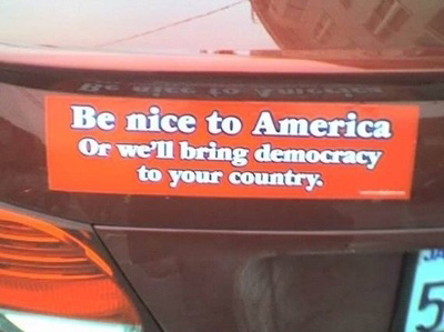 Be nice to america