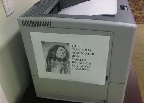 Bob Marley printer