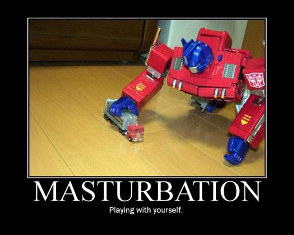 Demotivational picture: Masturbation