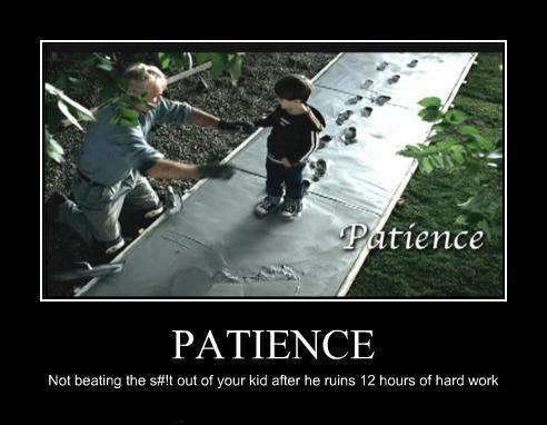 demotivational poster - patience