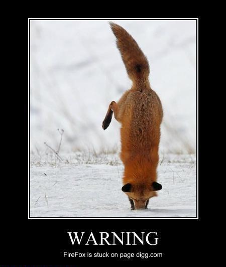 Warning: Firefox is stuck!