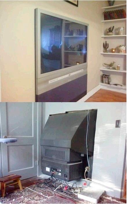 flat tv setup