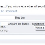 Guys are like buses!