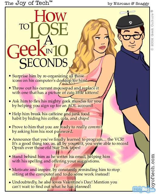 how to loose a geek in 10 seconds