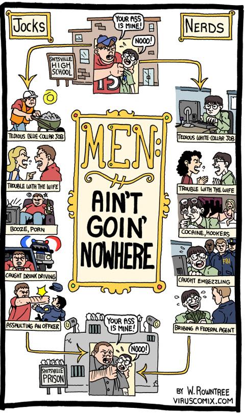 men aint going nowhere