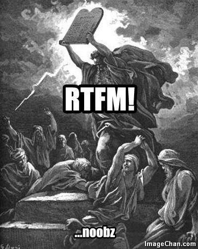 Reath the Fuckin' Manual!