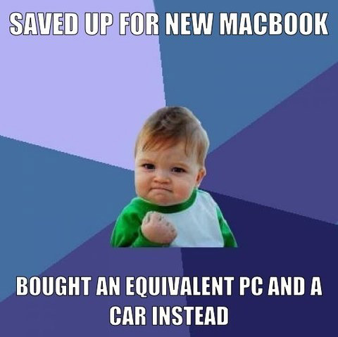 Saved up for a new MacBook...
