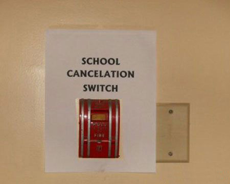 school cancelation switch