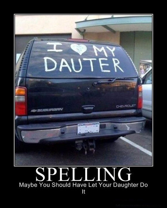 spelling: you're doing it wrong