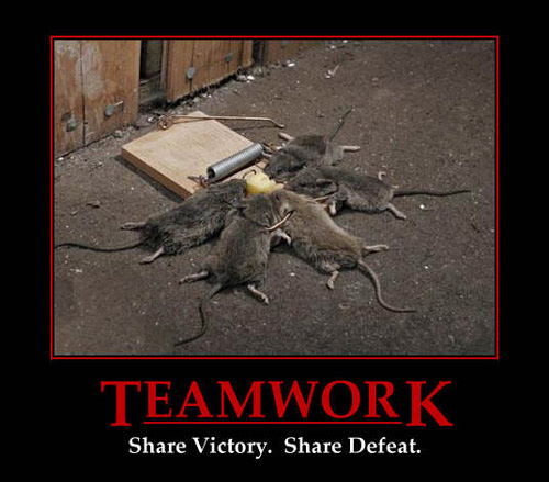 demotivational poster - teamwork