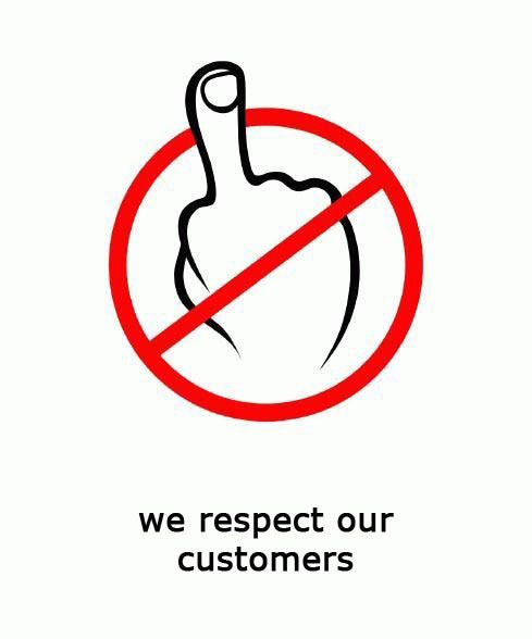 we respect our customers