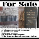 Britannica Encyclopedia for Sale! Wife knows everything...