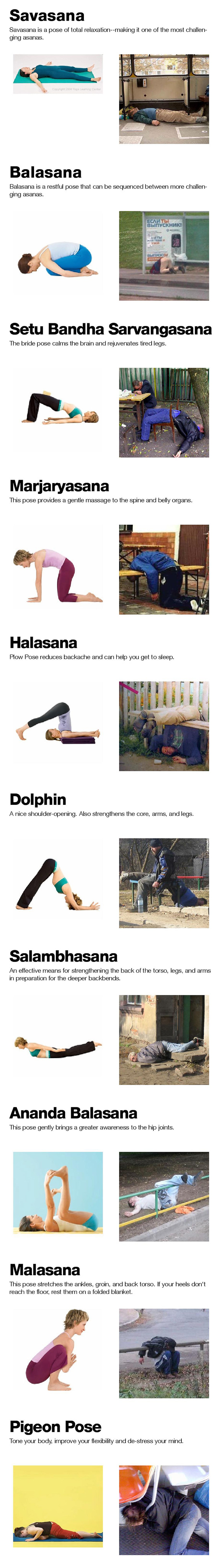 Yoga VS. Drinking: Same thing!