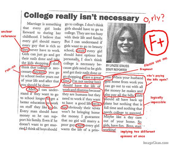 College isn't necessary