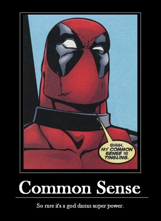Rare common sense