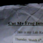 Cut my frog into pieces...