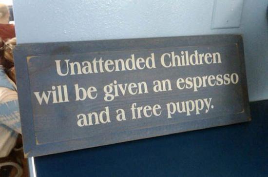 espresso and a free puppy