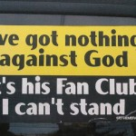 Nothing against god…