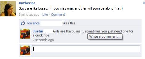 Guys are like buses!