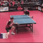 Playing pingpong: Like a boss!