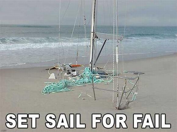 Set sail for fail!