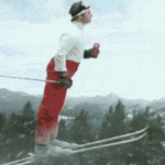 Skiing: Like a boss!