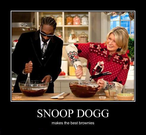 snoop dogg makes the best brownies!