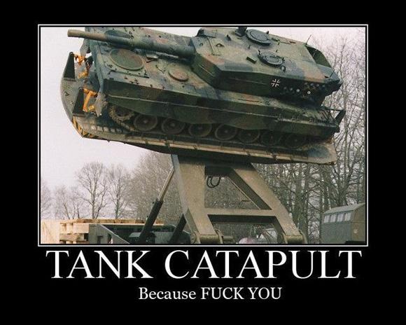 Tank catapult