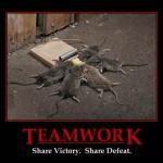 Demotivational Poster: Teamwork