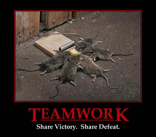 demotivational poster - teamwork
