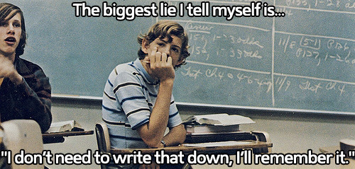 The biggest lie I tell myself...