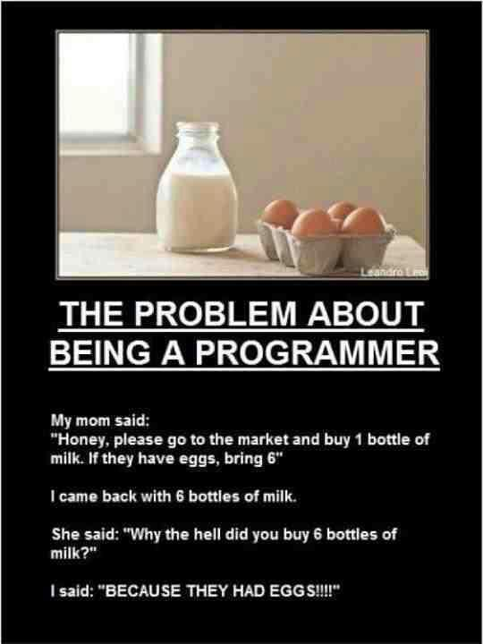 the problem about being a programmer