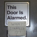 This door is alarmed!
