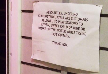 Under no circumstance...