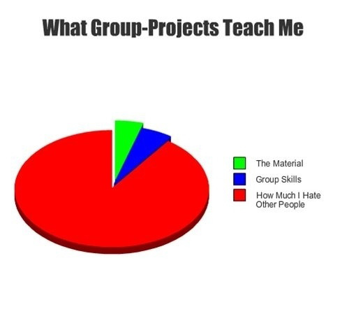 What group projects have taught me