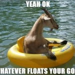 Whatever floats your goat…