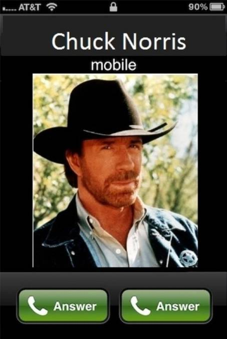 When Chuck Norris calls....