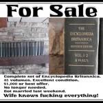 Britannica Encyclopedia for Sale!