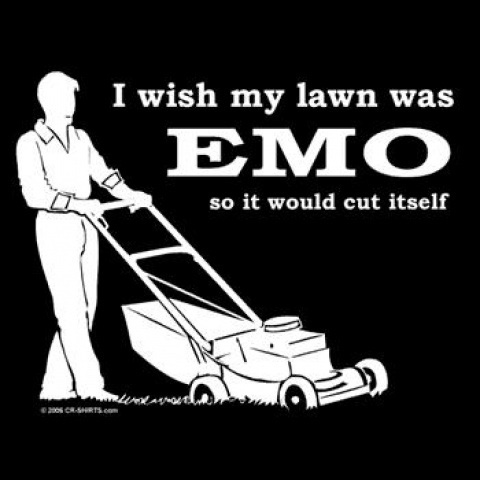 I wish my lawn was emo
